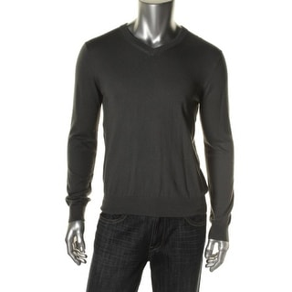 Private Label Mens Heathered Long Sleeves Pullover Sweater - XL