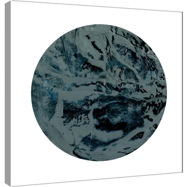 """PTM Images 9-101116 PTM Canvas Collection 12"""" x 12"""" - """"Painterly Circle on White J"""" Giclee Abstract Art Print on Canvas"""