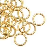 Artistic Wire, Chain Maille Jump Rings, 20 Ga / ID 4.37mm / 120pc, Tarnish Resistant Gold Tone Brass