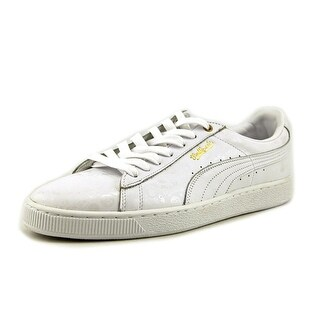 Puma Basket Classic X S Round Toe Leather Sneakers