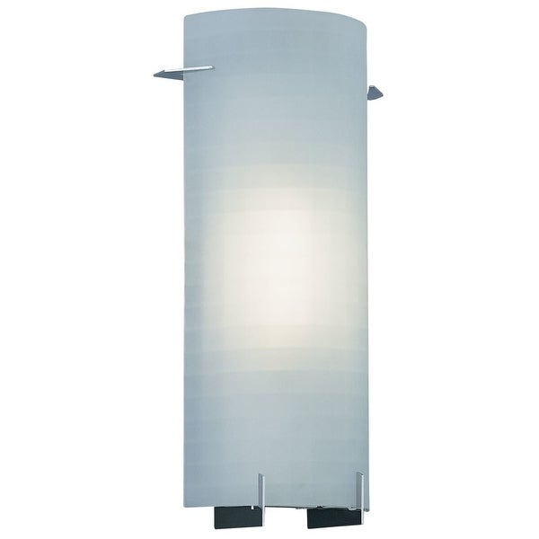 Designers Fountain 6041-CH 1-Light Wall Sconce with Etched Glass - Chrome - n/a
