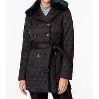 Laundry by Shelli Segal Black Womens Size Medium M Quilted Jacket