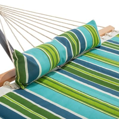 Small Single Quilted Hammock Combo with Pillow and Stand