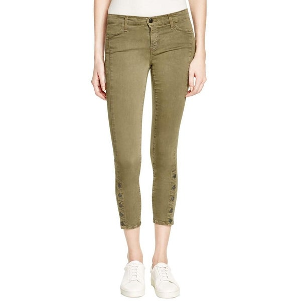 J Brand Womens Suvi Skinny Crop Jeans Button Ankle Utility