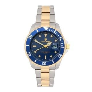 Conqueror Bracelet Watches Blue Leo Men's Blue/Gold Watches - --