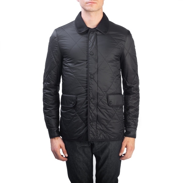 9eda69189 Shop Burberry Brit Men's Polyester Quilted Jacket Black - Free ...