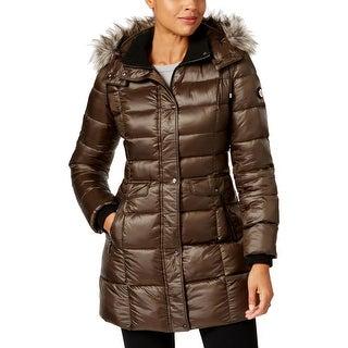 Bernardo Womens Parka Coat Winter Puffer