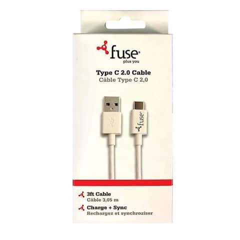 Fonegear 7661 SB Charging and Sync Cable, White, 3'