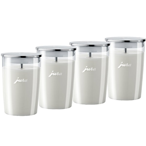 Jura Glass Milk Container (Pack of 4) - Clear
