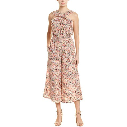 Rebecca Taylor Margo Floral Silk-Blend Jumpsuit