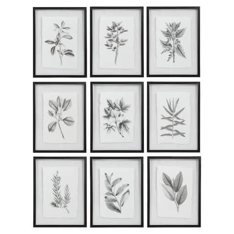 Uttermost Farmhouse Florals Framed Prints (Set of 9)