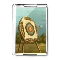 Archery - Oil Painting - Lantern Press Artwork (Acrylic Serving Tray)