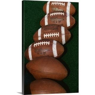 Premium Thick-Wrap Canvas entitled Footballs