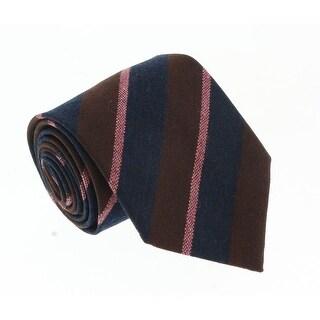 Missoni U5121 Burgundy/Pink Repp 100% Silk Tie - 60-3