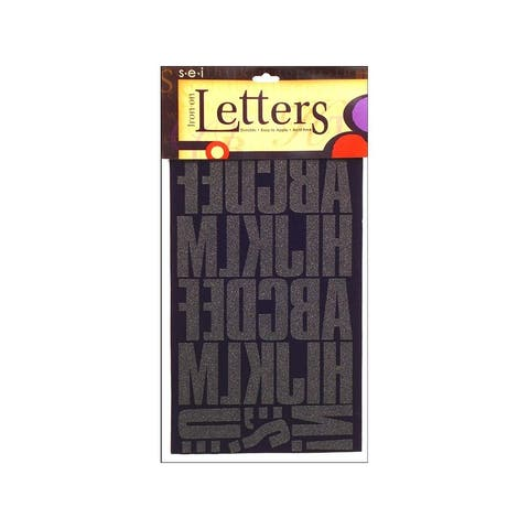 9-160 sei iron on art transfer letters block 2 black