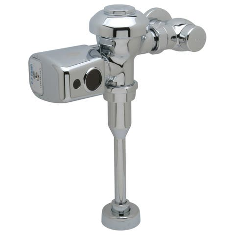 Zurn ZER6003PL-ULF-CPM AquaSense 0.125 GPF Sensor Operated Battery Powered Flush Valve for Urinals with Metal Cover - Chrome