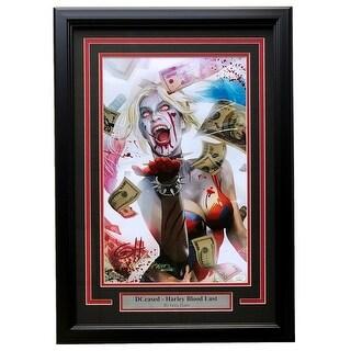 Harley Quinn Blood Lust DCeased Framed 11x17 Lithograph Signed By Greg Horn JSA