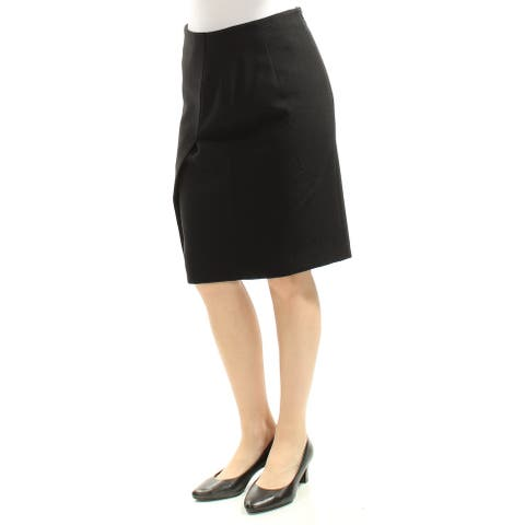 ARMANI Womens Black Slitted Knee Length Pencil Skirt Size: 6