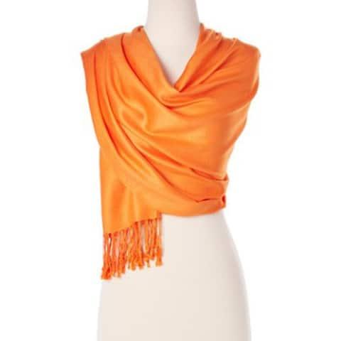 Women's Stylish Solid Colors Pashmina Silk Scarves & Wraps Soft Scarf Shawl Wraps
