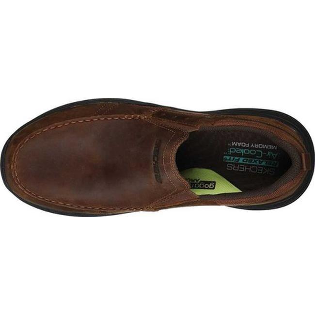 Skechers Men's Relaxed Fit Expended Seveno Slip On Dark Brown