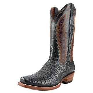 Ariat Turnback Caiman Square Toe Leather Western Boot