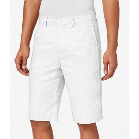 a7c567c3fe SALE. Sean John Bright White Mens Size 40 Linen Classic Fit Solid Shorts