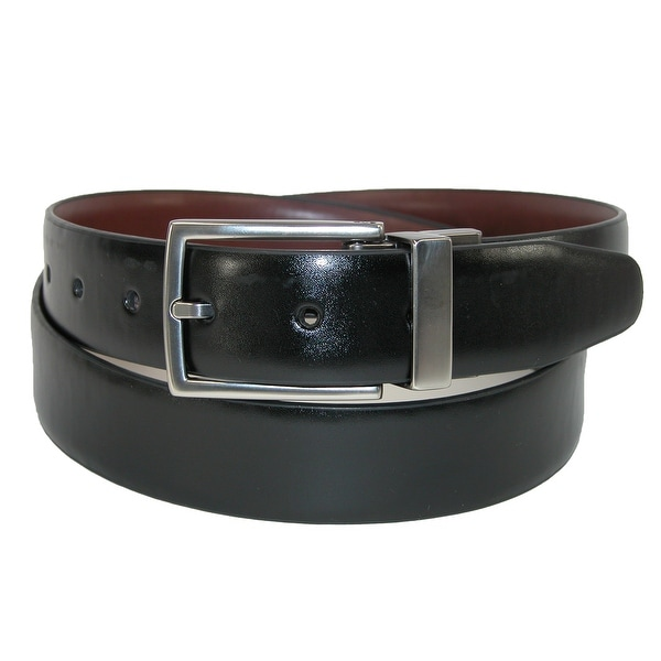 Kenneth Cole Reaction Men's Leather Feather Edge Reversible Dress Belt