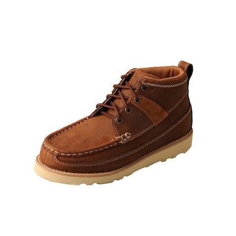 Twisted X Casual Shoes Boys Lace Chukka Oiled Saddle