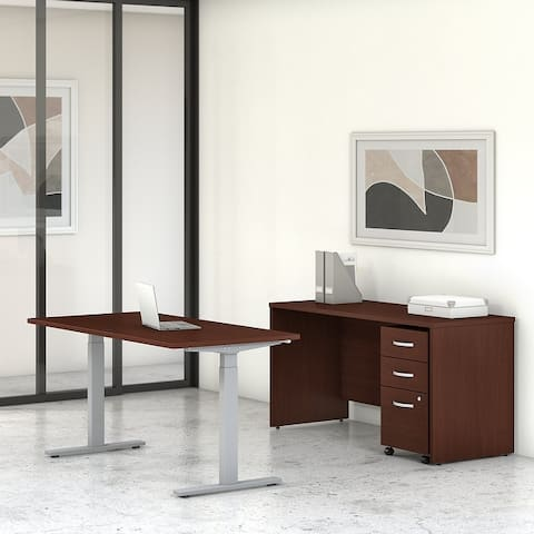 Studio C 60W Height Adjustable Desk Set by Bush Business Furniture