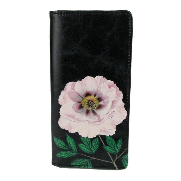Lavishy Women's Liano Peony Flower Faux Leather Slim Wallet - One size