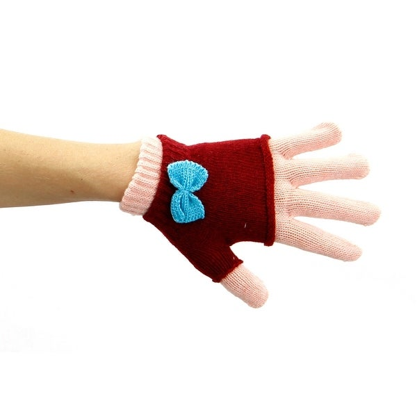 Peach Sugar and Spice Knit 2-in-1 Glove or Fingerless Mitten