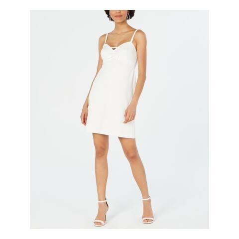 BETSEY JOHNSON Womens White Sleeveless Mini Shift Dress Size 16