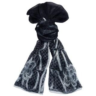 Valentino VS7018 5967 Col.4 Black Floral Silk Ladies Scarves