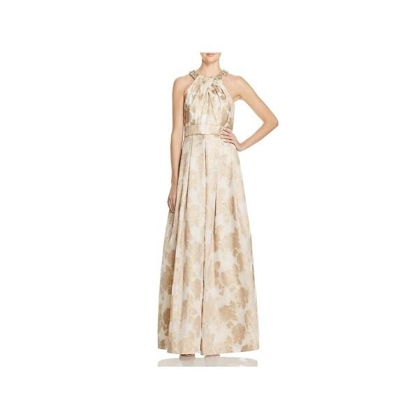 Eliza J Womens Evening Dress Metallic Sleeveless