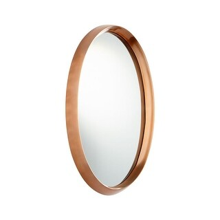 Cyan Design Rim Rock Mirror 22 x 12 Rim Rock Oval Aluminum and Wood Mirror Made in India - Satin Copper