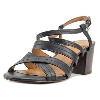 Coach Terri Women  Open Toe Leather Black Sandals