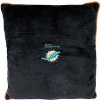 NFL Miami Dolphins Licensed Pillow. Comfortable, Soft-Plush Top-Quality for Pets, Kids, Sofa