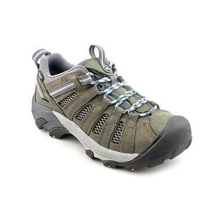 Keen Voyageur Women Round Toe Leather Gray Hiking Shoe