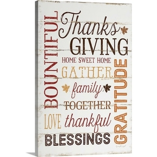 """Thanksgiving"" Canvas Wall Art"
