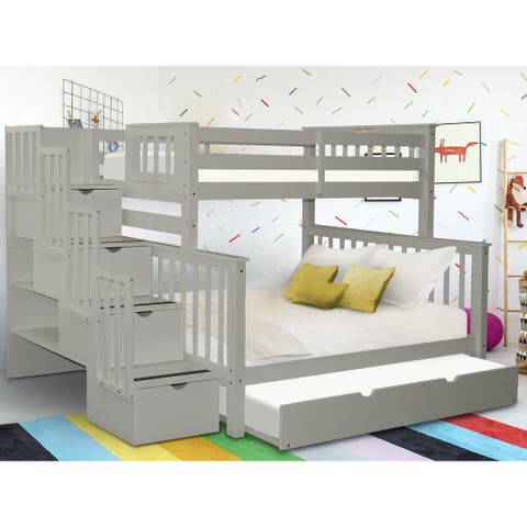 Taylor & Olive Trillium Twin over Full Stairway Bunk Bed