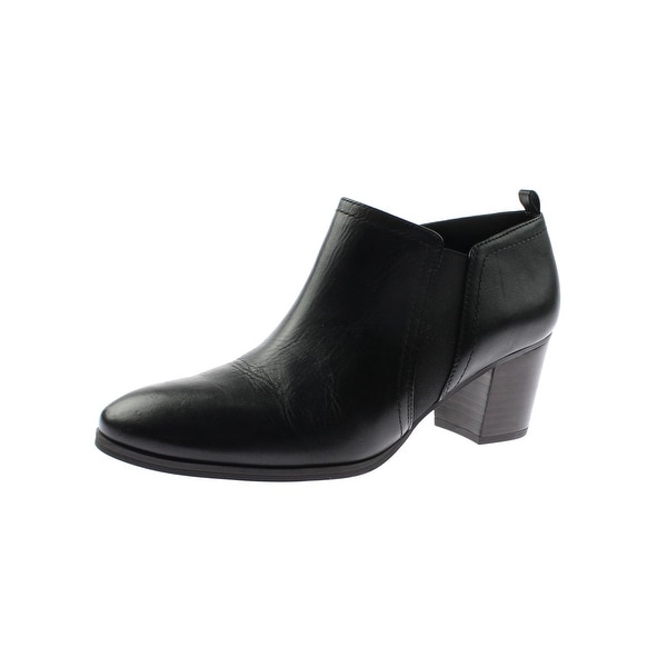 Franco Sarto Womens Banner Booties Solid Stacked Heel