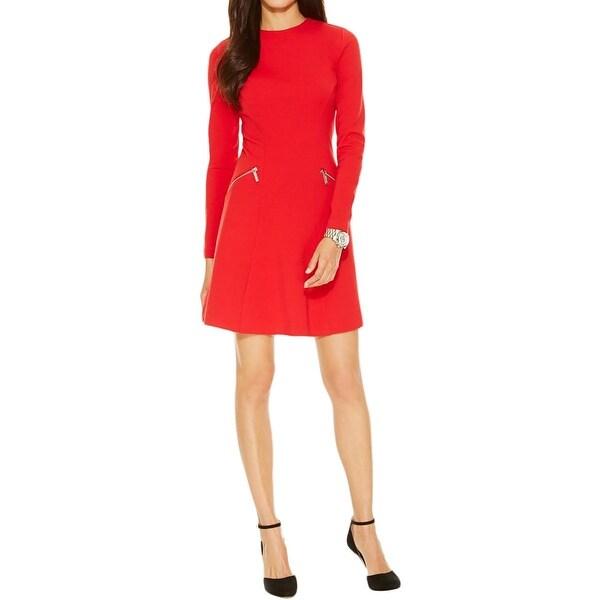 MICHAEL Michael Kors Womens Wear to Work Dress Ponte Long Sleeves