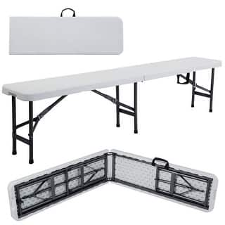 Costway 6' Portable Plastic In/Outdoor Picnic Party Camping Dining Folding Bench|https://ak1.ostkcdn.com/images/products/is/images/direct/7fc983d29c97876977ba72793f7192d64a772fac/Costway-6%27-Portable-Plastic-In-Outdoor-Picnic-Party-Camping-Dining-Folding-Bench.jpg?impolicy=medium