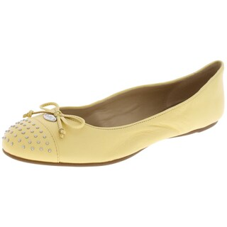 Coach Womens Doreen Ballet Flats Leather Studded - 8.5 medium (b,m)