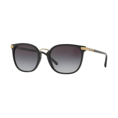 Burberry Square BE4262 WoMens BLACK Frame GREY GRADIENT Lens Sunglasses