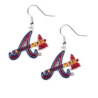 Atlanta Braves Dangle Logo Earring Set Charm Gift MLB