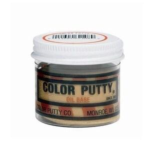 Color Putty 16124 Oil Based Wood Filler Putty, 1 Lb Jar, Redwood