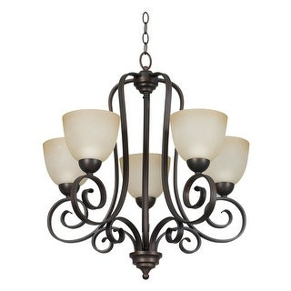 "Sunset Lighting F5255 Provano 5 Light 500 Watt 25"" Width Chandelier - tique"