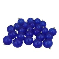 "32ct Blue Transparent Shatterproof Christmas Ball Ornaments 3.25"" (80mm)"