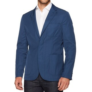 Perry Ellis NEW Blue Mens Size 44R Two Button Notch-Collar Jacket